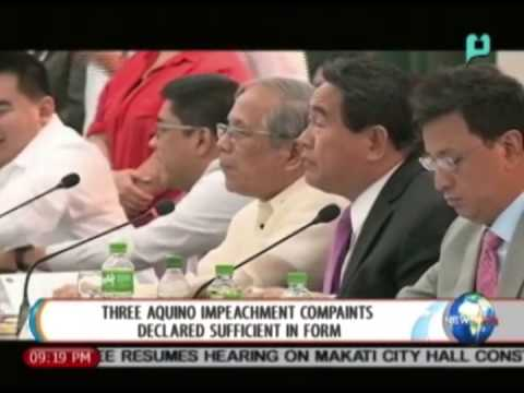 NewsLife: 3 Aquino impeachment complaints declared 'sufficient in form' || Aug. 26, 2014