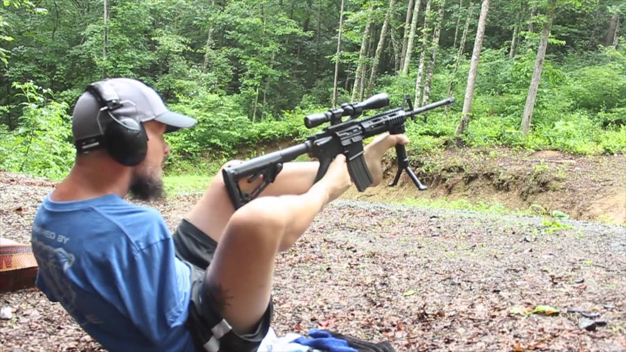 Shooting an AR-15 With No Arms - YouTube