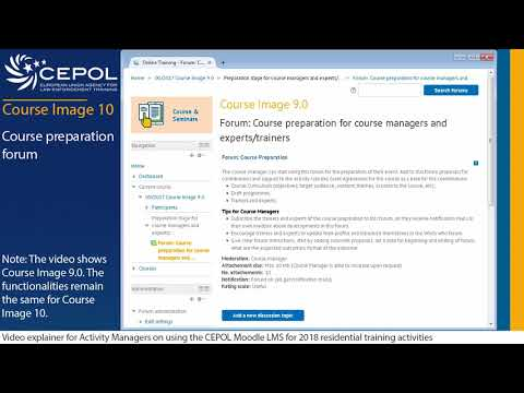 Course preparation forum for activity managers, trainers and e-Net manager on CEPOL Course Image 10