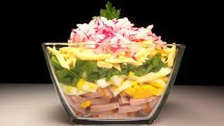 """Потрясающе вкусный и яркий салат """"Майский"""". Пошаговый рецепт!"""