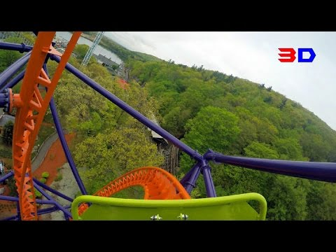 Phobia Phear Coaster 3D front seat on-ride HD POV @60fps Lake Compounce