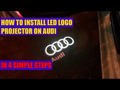 How to install Audi A3, A4, A5, A6, A8, Q3, Q5, Q7 car door LED logo projector ghost shadow lights