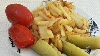 Жареная картошка на сливочном масле. Как пожарить картошку на сливочном масле(Вкусная и зажаристая картошка на сковородке со сливочным маслом. Подробный пошаговый рецепт., 2015-04-19T11:06:38.000Z)