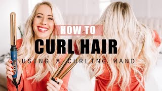 HOW TO: CURL HAIR using a curling wand || for short hair, medium length hair and long hair