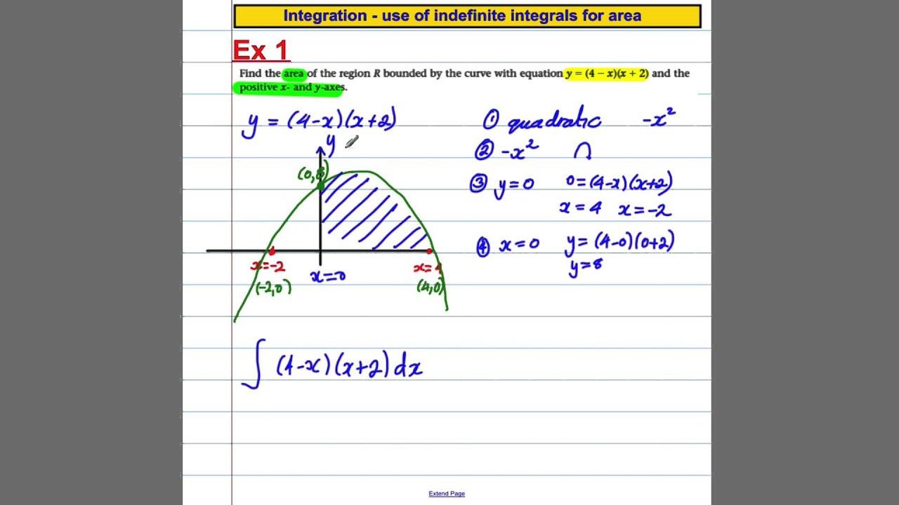 C2 Integration (2) - area under curves