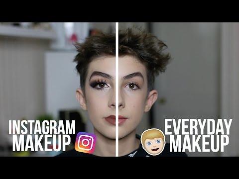 Instagram vs. Real Life Makeup Tutorial - Teenage Boy