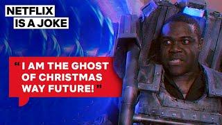 Scrooge Encounters A Cyborg From Christmas In 3050 | Netflix Is A Joke