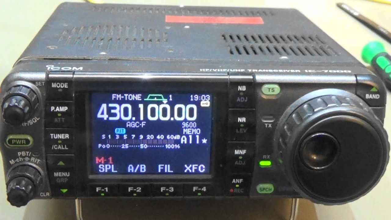 The guys a the radio shop (fortunately i live closed enough that i can touch and feel radios) pulled out an icom ic-7000. The highest tech little wonder. Small.