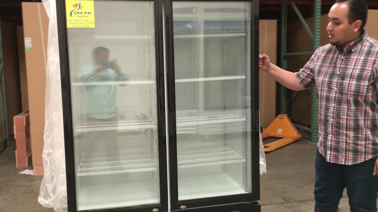 nsf merchandiser new refrigerator glass door beer flower cooler two door - Beer Merchandiser