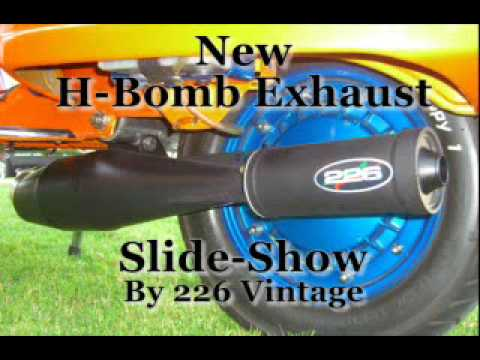 New H bomb exhaust slide show by 226 vintage