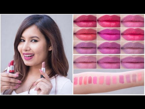Maybelline Colorshow Creamy Matte Lipcolor Swatches | Sonal Sagaraya