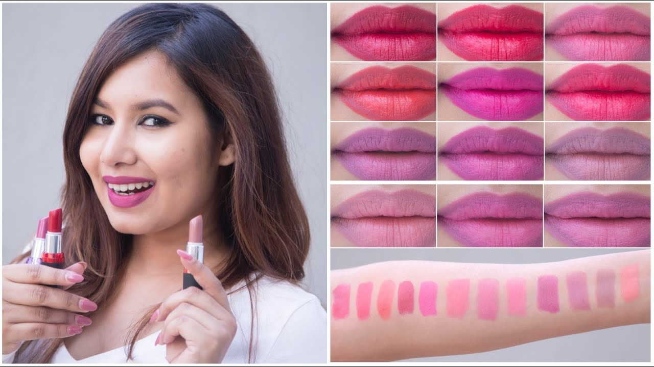 00feeb37a Maybelline Colorshow Creamy Matte Lipcolor Swatches