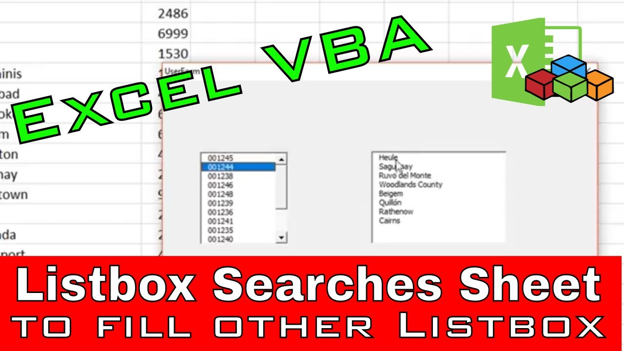 Listbox Selection To Fill Other Listbox From Sheet Entries