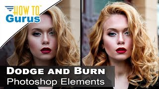Photoshop Elements Dodge and Burn : Portrait Editing in 2018 15 14 13