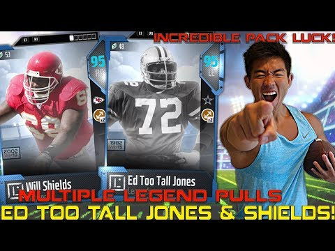 AMAZING PACK LUCK! WE GET ED TOO TALL JONES & MORE! Madden 18 Ultimate Team