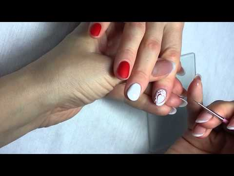 "Дизайн ногтей на День Валентина «Вензеля» / Nail Design for Valentines Day ""Wenzel"""