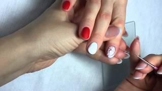 Дизайн ногтей на День Валентина «Вензеля» / Nail Design for Valentines Day