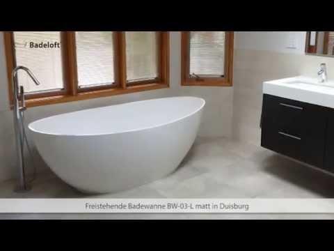 Freistehende Badewanne BW-03 Kundenreferenzen - YouTube