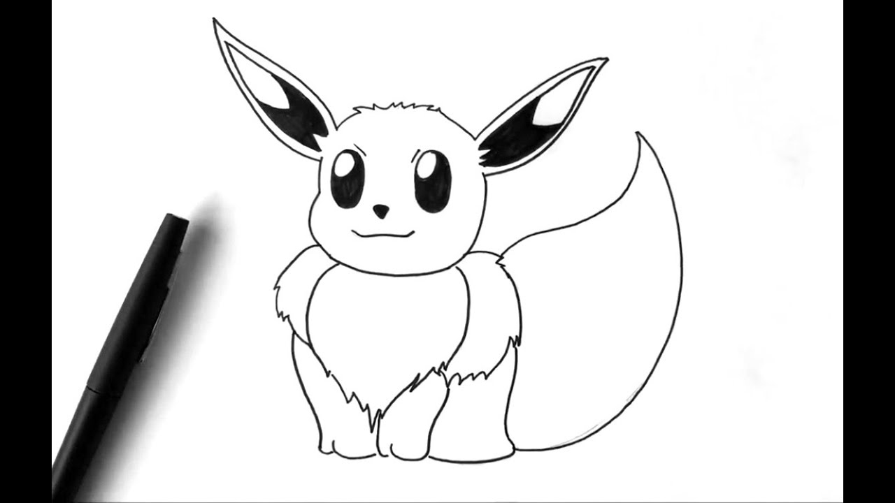 Comment dessiner evoli pok mon youtube - Dessin facile de pokemon ...