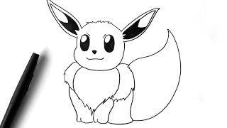Comment dessiner Evoli - Pokémon