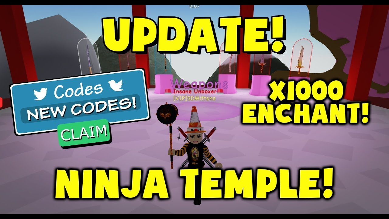 NEW - Ninja Temple - New Codes - Roblox Unboxing Simulator