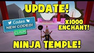 NEW - Ninja Temple - New Codes - Roblox Unboxing Simulator