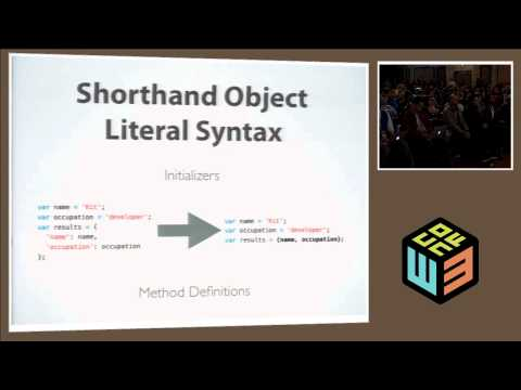 "Kit Cambridge, ""EcmaScript Next: The Subtleties of ES 6"" at W3Conf 2013"