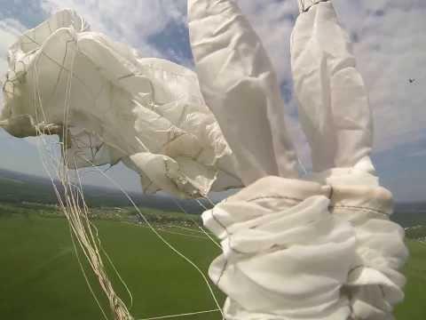Учебное применение запасного парашюта