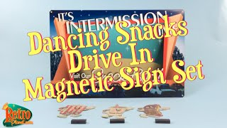 Dancing Snacks Theater Intermission Time Sign Set