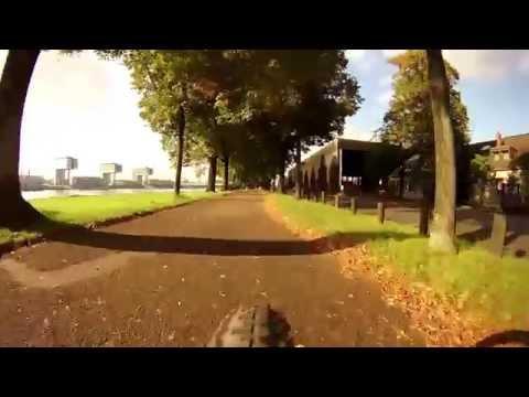 Rhine Bike Path near Cologne (Germany) - Virtual Cycling - Indoor Bike Training