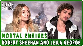 MORTAL ENGINES | Robert Sheehan and Leila George talk about their experience making the movie