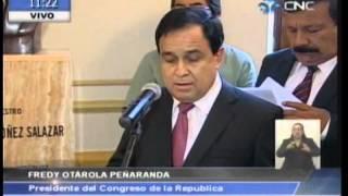 Palabras de Fredy Otárola en homenaje a ex congresista Juvenal Ordóñez 28-01-14