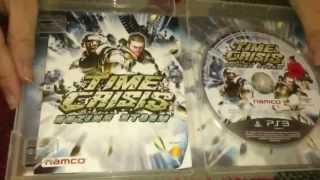 Nostalgamer Unboxes All PAL Time Crisis Games On Sony Playstation 3 Three UK PAL System Version