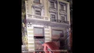 Watercolour Tommy Hilfiger Paris how to paint.