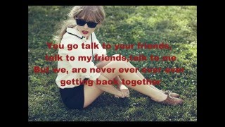 Download We Are Never Ever Getting Back Together (Lyrics) Taylor Swift Mp3