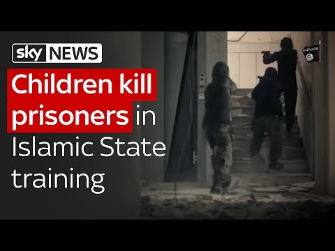 Brainwashed children kill prisoners in Islamic State training