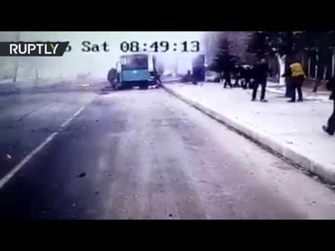 Turkish bus bomb explosion caught on video (GRAPHIC)