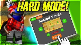 BEATING THE *NEW* SACRED SAND DUNGEON IN HARD MODE! (ROBLOX TREASURE QUEST)