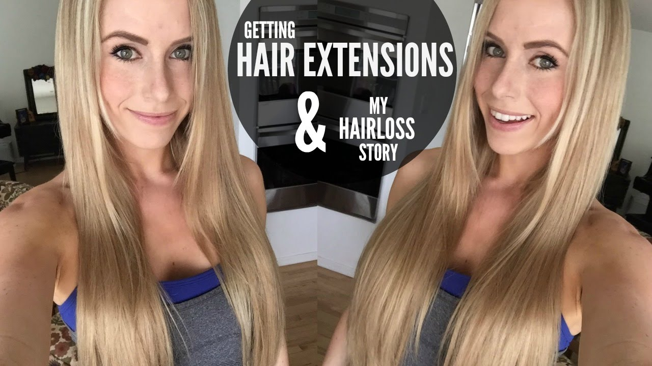 First time getting hair extensions my hairloss story youtube first time getting hair extensions my hairloss story pmusecretfo Images