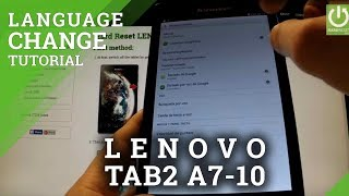 LENOVO Tab 2 A7-10 -  How to Change Language in Lenovo tablet