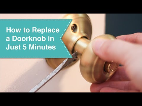 How to Replace Door Knobs - YouTube