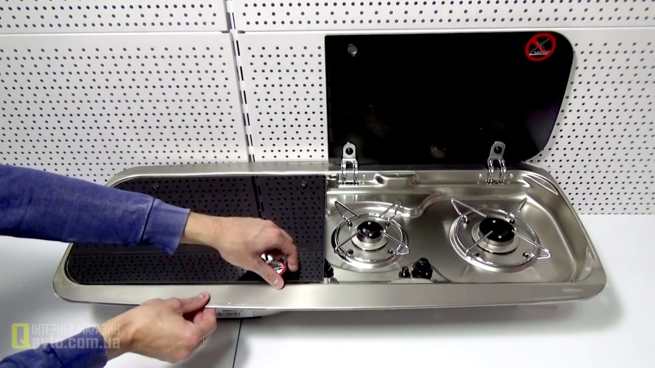Two Burner Hob And Sink Combination