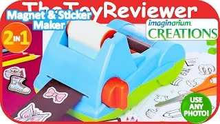 Imaginarium 2 in 1 Magnet & Sticker Maker Unboxing Toy Review by TheToyReviewer