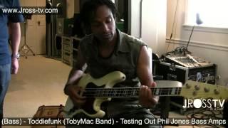 James Ross @ Toddiefunk (TobyMac) & Phil Jones (PJB Amps) - www.Jross-tv.com