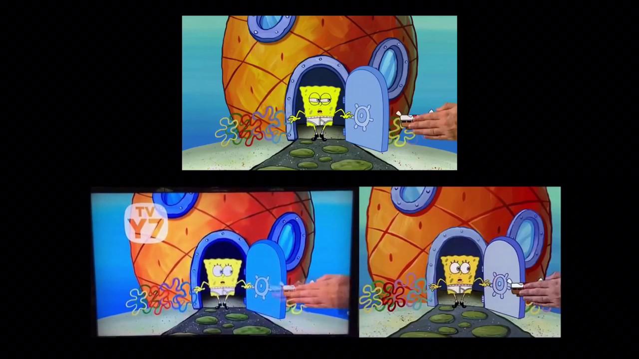 Spongebob Squarepants Theme Song Comparison 4:3 16:9 ...