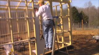 How to Install TUFTEX panels on Greenhouse! DIY