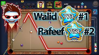 8ball pool Me and the highest level in the world walid damoni 773 with 2700bTotal / crazy shots