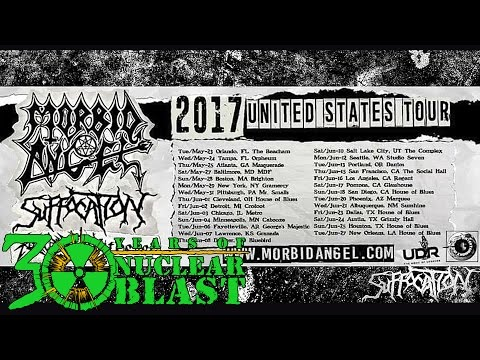 SUFFOCATION - On Tour w/ Morbid Angel, Revocation, Withered (TRAILER)