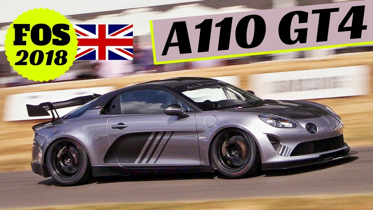 alpine a110 gt4 cup a110 production version in action 2018 goodwood festival of speed youtube. Black Bedroom Furniture Sets. Home Design Ideas