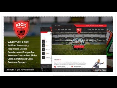 Kick || Football Club HTML5 Template | Themeforest Download